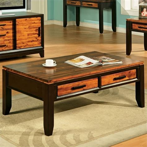 Steve Silver Coffee Tables Steve Silver Company Abaco Rectangular Wood Top Coffee Table In Espresso Ab600c