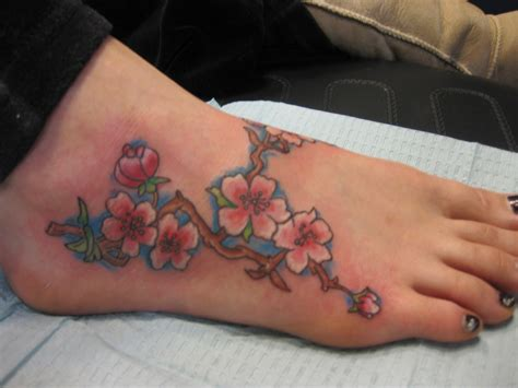 girl foot tattoos foot tattoos for flower foot designs