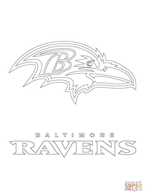 Ravens Coloring Pages baltimore ravens logo coloring page free printable coloring pages