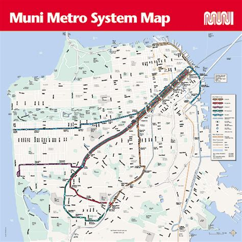 san francisco muni map getting around silicon valley guide