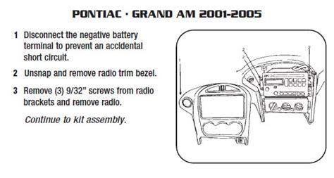 2002 pontiac grand aminstallation