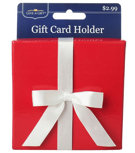 Joann Fabric Gift Card Online - red paper box with white bow gift card holder at joann com