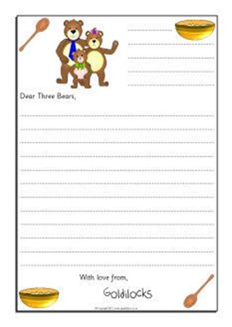 Goldilocks Sorry Letter Writing Frames Sb9019 Sparklebox Fairy Tales Pinterest Fairy Letter Template Sparklebox