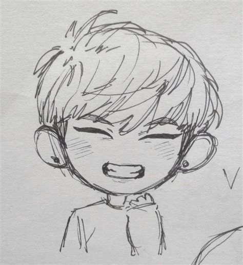 V Drawing Bts Easy by Taehyung Chibi Taehyung Amino