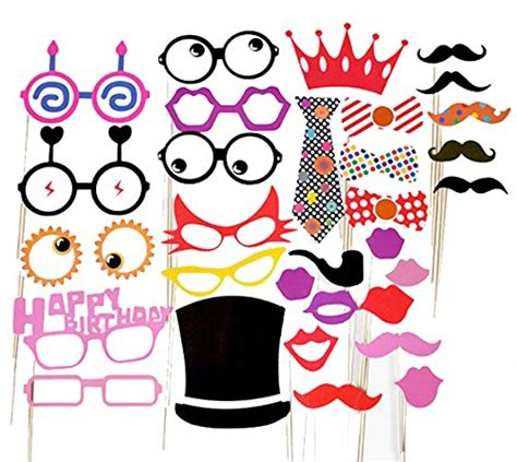 Acc Photoboth Baby Shower Acc Birthday Potoboth Aksesori Ultah 31pcs colorful photo booth props diy kit photobooth dress up accessories for wedding baby
