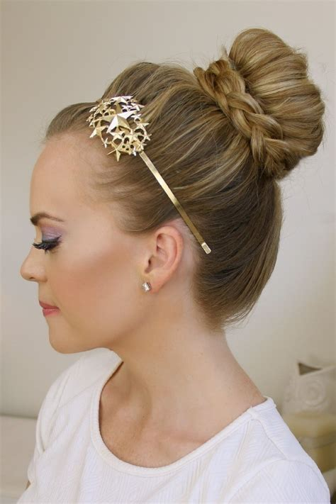 the knot so braided bun braid wrapped top knot 183 how to style a braided bun