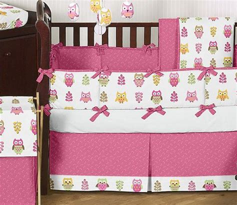 Sweet Jojo Designs Happy Owl Crib Bedding And Accessories Owl Themed Baby Bedding