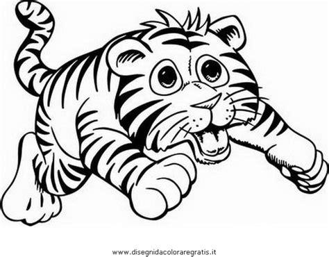 clipart animali disegno tigrotto 3 animali da colorare
