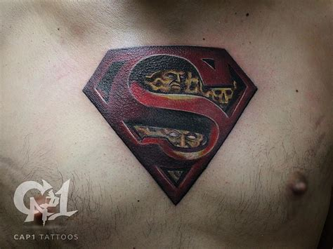 tattoo parlor denton superman by capone tattoonow