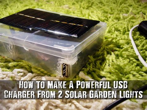 powerful solar garden lights how to make a powerful usb charger from 2 solar garden