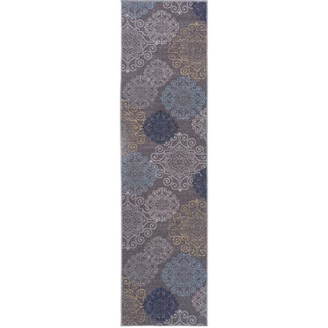 Non Slip Runner Rug Modern Floral Swirl Design Non Slip Non Skid Gray Area Rug Runner 2 Ft X 7 Ft 508 Gray 2x7