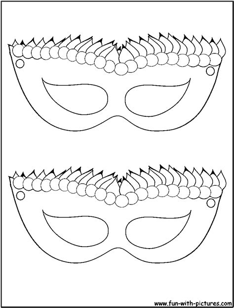 printable masks in color mardi gras mask coloring page coloring home