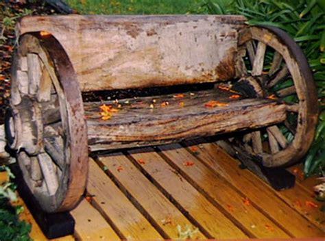 wagon wheel bench wagon wheel bench