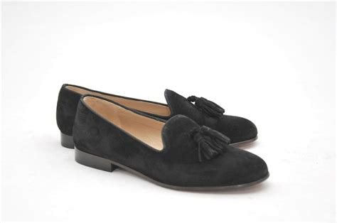 black suede loafers womens s jpc tassel black suede loafer
