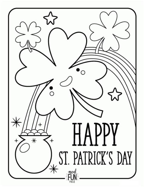 st patricks day coloring page st s day coloring pages for preschool and