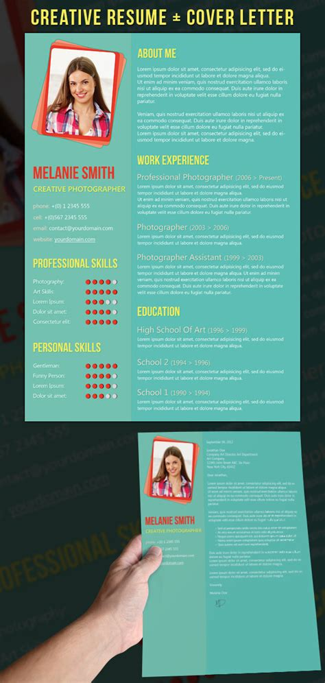 creative resume cover letter phuket resume collection and creative design 21 stunning