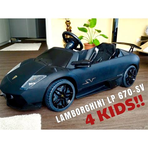 kid car lamborghini lamborghini murcielago lp 670 sv 12v electric car for kids