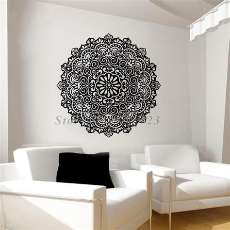 pattern wall decals indian mandalas pattern wall decals for living room