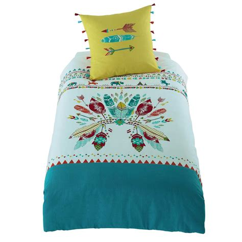 lit 140 enfant parure de lit enfant en coton multicolore 140 x 200 cm