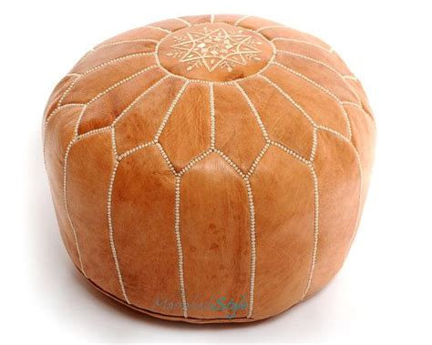 light tan moroccan pouf moroccan pouf light tan leather pouf round ottoman foot