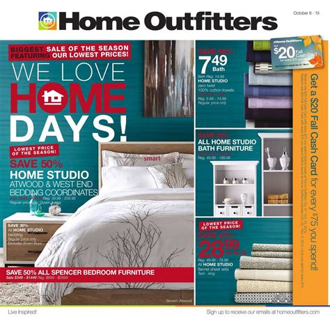 home outfitters flyer october 9 to 15