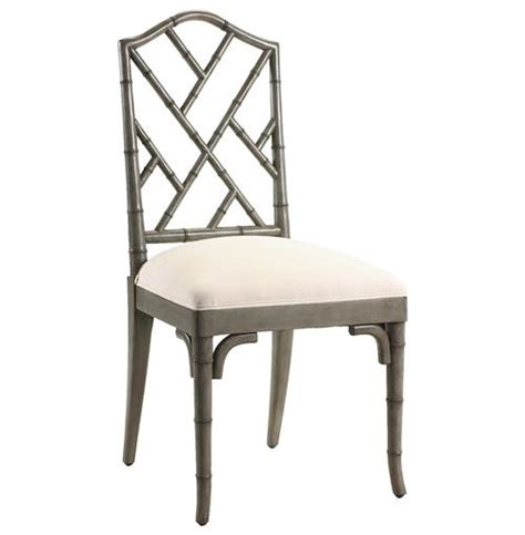 Chinese chippendale hollywood regency grey bamboo dining chair kathy kuo home