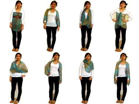 how to wear knit wraps because she started knitting fo sunday market shawl