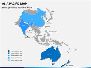 Map Of Asia Pacific by Asia Pacific Map Powerpoint Sketchbubble
