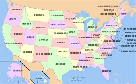 america map state names map of usa by states