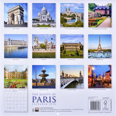 Wall Calendar 2018 The Beauty Of Paris Ozone Bg