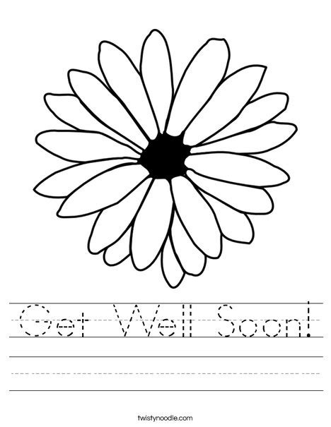 coloring pages that say get well soon get well soon worksheet twisty noodle