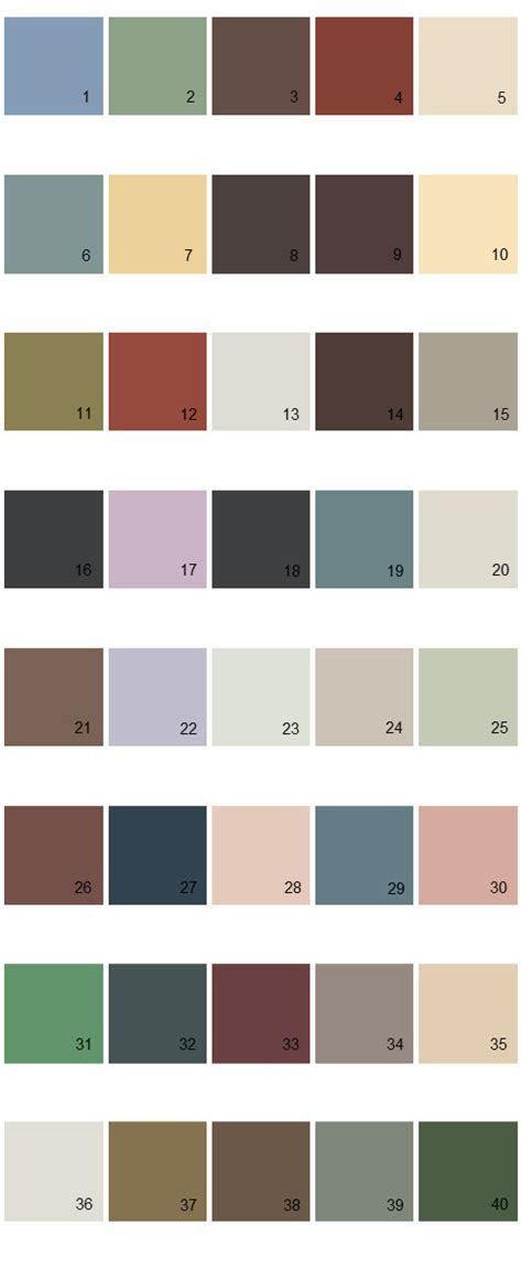 behr paint colors palette 30 house paint colors