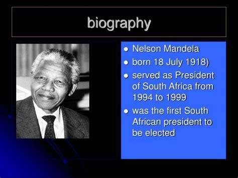 biography of nelson mandela ppt ppt nelson mandela powerpoint presentation id 7031351