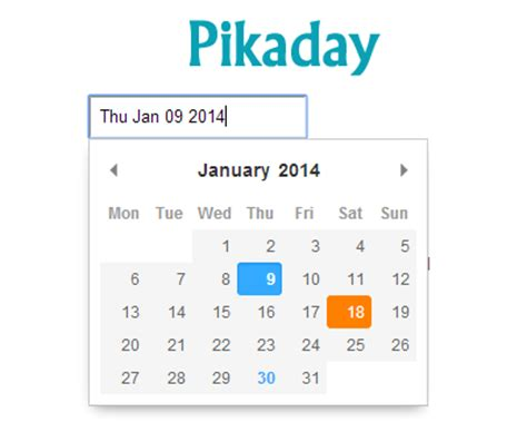 mobile datepicker jquery pikaday refreshing javascript datepicker jquery plugins