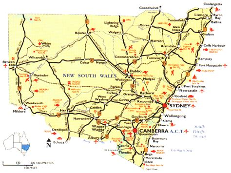 map of nsw australia reference map new south wales