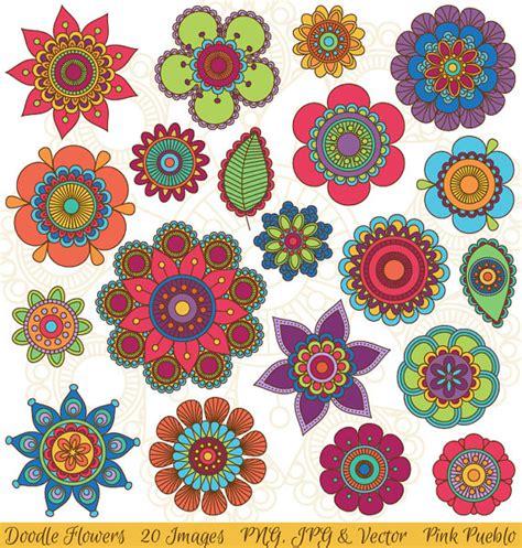 hand drawn flowers clipart clip art doodle mandala clip art