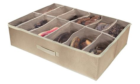under the bed shoe organizer under the bed shoe organizer groupon goods