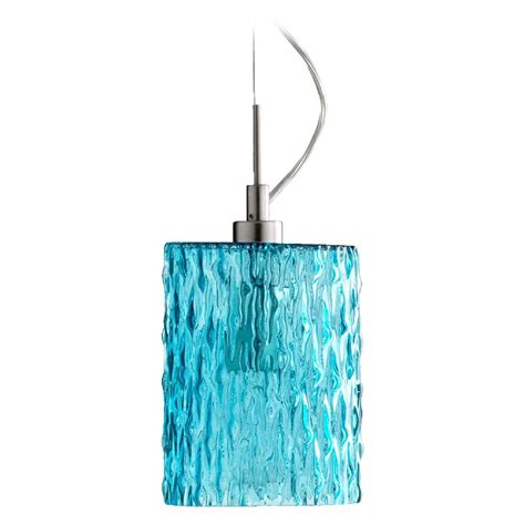 Aqua Pendant Light Quorum Lighting Satin Nickel W Aqua Mini Pendant Light With Cylindrical Shade 824 1265