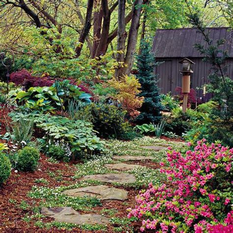 cottage garden planting stepping stones gardens and yard