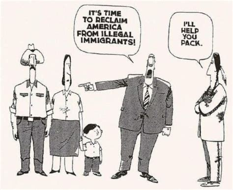 political cartoon about illegal immigration quot it s time to reclaim america from illegal immigrants quot quot i