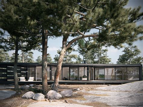 dbox rendering the growfx tree at the archipelago house 3d