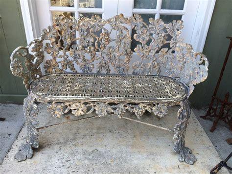 antique cast iron bench  stdibs