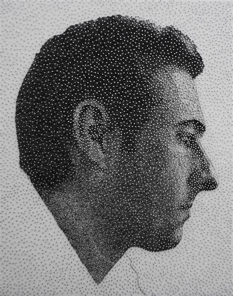 String Portrait - astounding photorealistic thread and nail portraits my