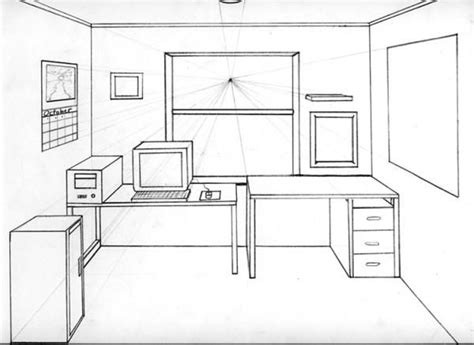 how to draw a 3d room 1 point perspective drawing room one point perspective