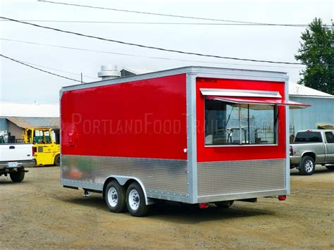 Kitchen Trailers by Custom Mobile 18ft Kitchen Concession Food Trailer
