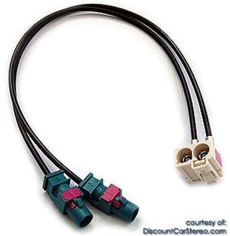 baab dual fakra antenna adapter  select vw rns