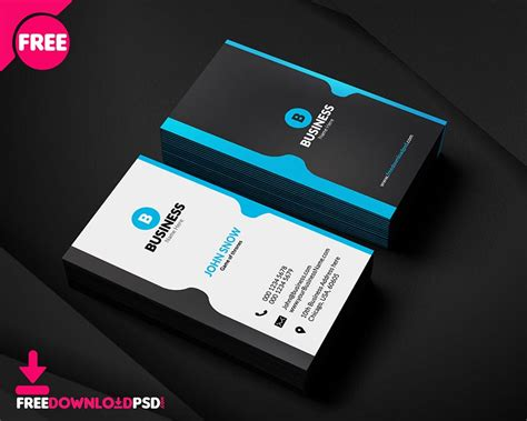 99 Free Business Card Psd Templates Graphiceat Corporate Business Card Templates Free