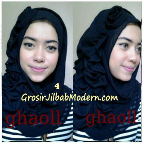 Jilbab Instan Ghaoll pashmina instant crinkle by ghaoll no 4 hitam grosir jilbab modern jilbab cantik jilbab syari