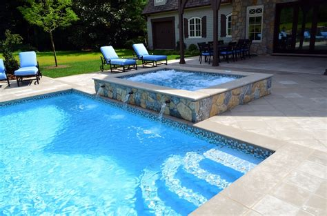 pools with spas far hills nj inground swimming pool awarded for design