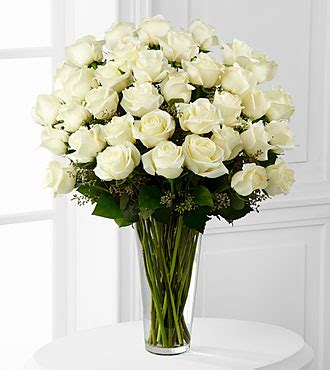 the white bouquet by ftd 174 36 stems vase included